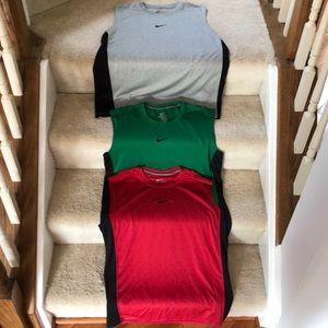 Nike Dri-fit sleeveless shirts.  Size M.